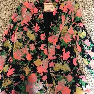 Cartonnier Neon Botanic Floral Drapes Blazer Med